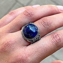Prstene - Lapis Lazuli Vintage Ring / Filigránový prsteň s lazuritom - 13488693_