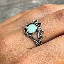 Prstene - Antique Silver Amazonite Ring / Vintage prsteň s amazonitom - 13488837_