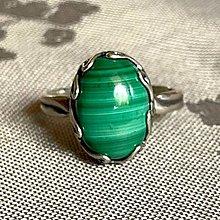 Prstene - Malachite Silver Ag925 Ring / Strieborný prsteň s malachitom - 13489149_