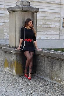 Šaty - Set: čierny top.sukna - 13489308_