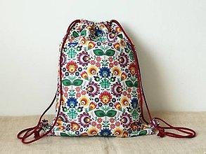 Batohy - Batoh folk,farebný - 13489056_