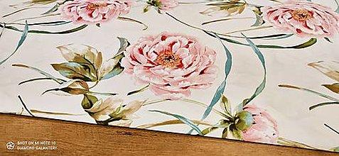 Textil - Bavlna režná - Pivónia - cena za 10 centimetrov - 13487790_