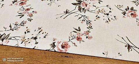 Textil - Bavlna režná - Kvety III- cena za 10 centimetrov - 13487801_