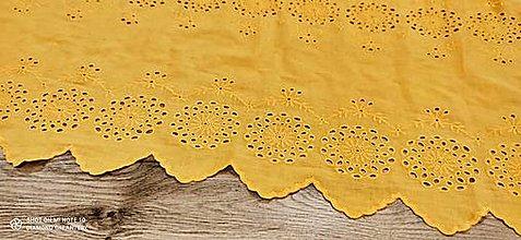 Textil - Madeira -Horčicová X - cena za 10 centimetrov - 13487887_