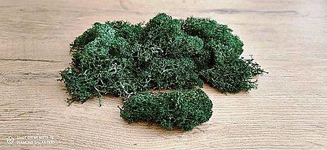 Polotovary - Preparovaný mach - 100 gramov (Zelená tmavá) - 13487951_
