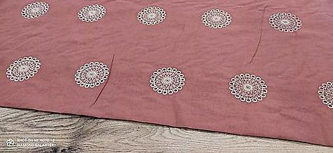 Textil - Madeira -Mandala - cena za 10 centimetrov - 13490120_