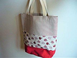 Nákupné tašky - nákupka/ plážovka/ jabĺčka - 13489264_