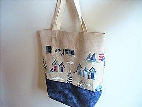 Nákupné tašky - nákupka/ plážovka - 13489266_