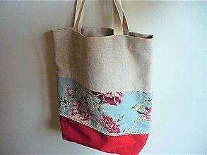 Nákupné tašky - nákupka/ plážovka/ ruže - 13489267_