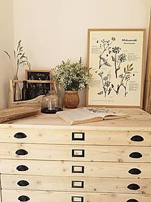 Nábytok - Komoda zo starého dreva - kartotéka - 13487727_