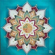 Obrazy - Mandala rodinnej harmónie, zdravia a súdržnosti - 13489856_