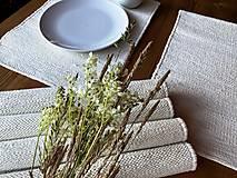Úžitkový textil - Ručne tkané prestieranie pod taniere, prírodná biela - 13488162_