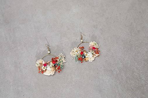 """Kvetinové kruhové náušnice """"chuť letnej lásky"""""""