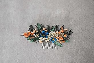 """Ozdoby do vlasov - Kvetinový hrebienok """"v lete pri stmievaní"""" - 13489645_"""