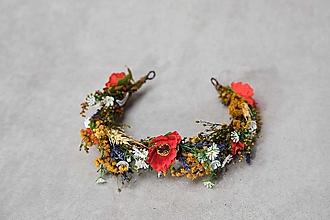 """Ozdoby do vlasov - Kvetinový polvenček """"o čom šepkajú maky"""" - 13489690_"""