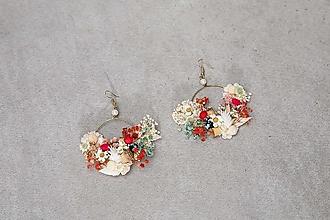 """Náušnice - Kvetinové kruhové náušnice """"chuť letnej lásky"""" - 13489727_"""