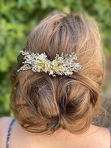 """Ozdoby do vlasov - Kvetinový hrebienok """"roznežnelá""""  - menší - 13489752_"""