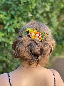 """Ozdoby do vlasov - Kvetinový mini hrebienok """"zrniečka piesku"""" - 13489770_"""