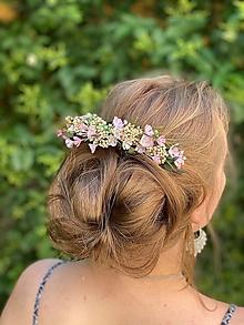 """Ozdoby do vlasov - Kvetinový hrebienok """"dotyk nežných slov"""" - 13489802_"""
