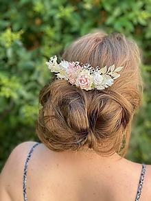 """Ozdoby do vlasov - Kvetinový hrebienok """"keď ráno hladíš ma"""" - 13489832_"""