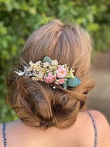 """Ozdoby do vlasov - Kvetinový hrebienok """"prebúdzanie s tebou """" - 13489876_"""