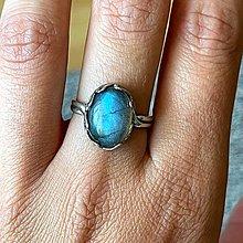 Prstene - Labradorite Silver Ag925 Ring / Strieborný prsteň s labradoritom - 13491641_