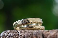 Prstene - Obrúčky životom tepané /polguľaté zo zlata slim verzia/ - 13492953_