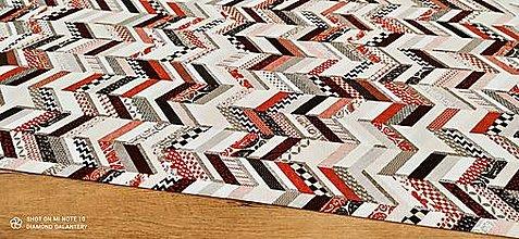 Textil - Bavlna s ľanom - Abstract- cena za 10 centimetrov - 13490925_