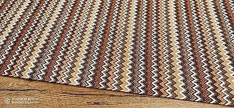 Textil - Bavlna režná - Vzory hnedé - cena za 10 centimetrov - 13490935_