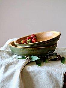 Nádoby - Set drevených misiek oliva - 13491412_