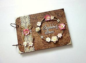 Papiernictvo - Fotoalbum svadobný * svadobný album * kniha hostí A5 - 13492704_