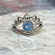 Prstene - Antique Silver Kyanite Ring / Vintage prsteň s kyanitom - 13493672_