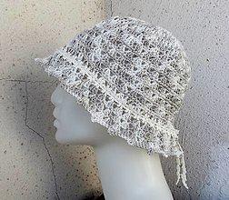 Čiapky - háčkovaný dámsky klobúčik - 13493371_