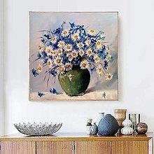 Obrazy - Zátišie s margarétkami - 13493196_
