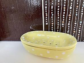 Nádoby - Pastelová žltá mydelnička - 13493301_