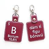 Kľúčenky - Kľúčenka prvok B-dám ti figu bórovú - 13493881_