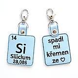 Kľúčenky - Kľúčenka prvok Si-spadol mi kremeň zo ♥ - 13493944_
