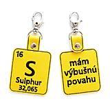 Kľúčenky - Kľúčenka prvok S-mám výbušnú povahu - 13493961_