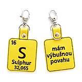 Kľúčenky - Kľúčenka prvok S-mám výbušnú povahu - 13493963_
