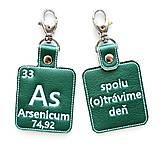 Kľúčenky - Kľúčenka prvok As-spolu (o)trávime deň - 13494041_