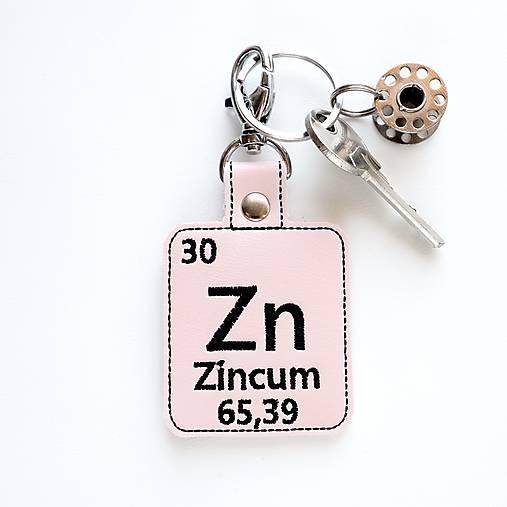 Kľúčenka prvok Zn-tvár ako bábika