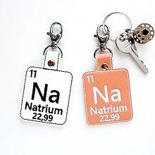 Kľúčenky - Kľúčenka prvok Na-soľ nad zlato - 13493916_