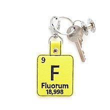 Kľúčenky - Kľúčenka prvok F-máš ma v zuboch - 13493918_