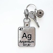 Kľúčenky - Kľúčenka prvok Ag-živé striebro - 13494211_