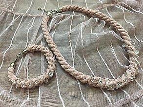 Sady šperkov - Pudrový set s křišťálem - 13494591_