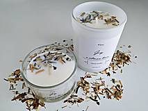 Svietidlá a sviečky - Sójová sviečka s vôňou grep a citrónová tráva (200g alebo 90g) - 13493724_