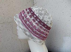 Čiapky - dvojfarebný dámsky klobúčik - 13494753_