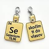 Kľúčenky - Kľúčenka prvok Se-skočím ti do vlasov - 13494906_