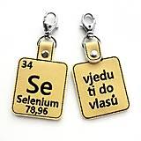 Kľúčenky - Kľúčenka prvok Se-skočím ti do vlasov - 13494908_