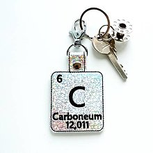 Kľúčenky - Kľúčenka prvok C-som diamant - 13496252_